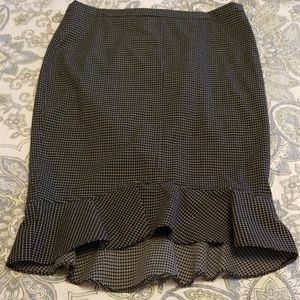Max Studio black patterned skirt new with tags